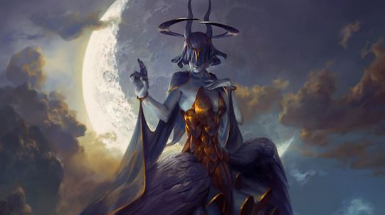 Leliel, Angel of Night___Art by Peter Mohrbacher