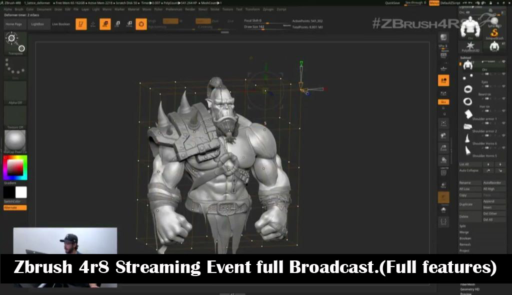 Zbrush 4r8 _ Streaming Event full Broadcast (Full features)