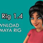 Luna Rig 1.4_Maya 3d rig_Free download