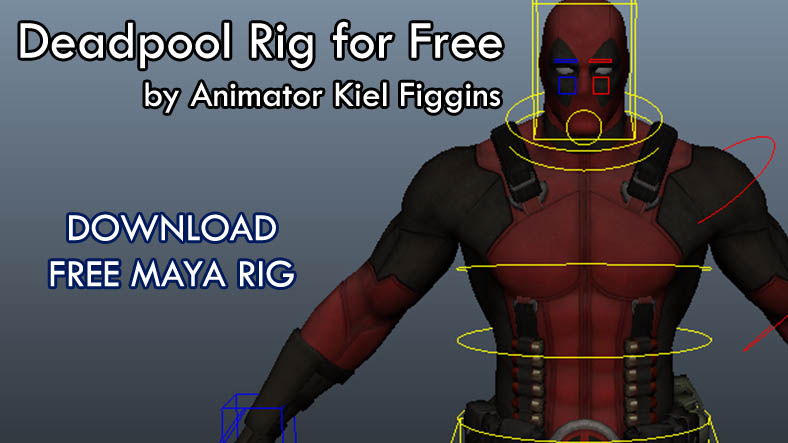 Deadpool Rig for Free_by Animator Kiel Figgins