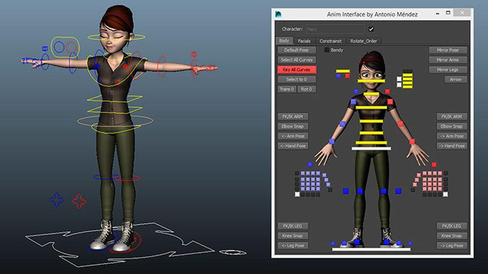 Character Design Maya : Free mery character rig by jose manuel garcía alvarez and