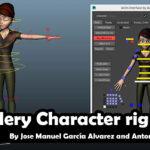 Free Mery Character rig_ By Jose Manuel García Alvarez and Antonio Méndez Lora
